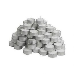 Ikea Glimma Tea Light Tealight Candles - 100 x Tea Lights, 38mm Wide FREE P&P UK
